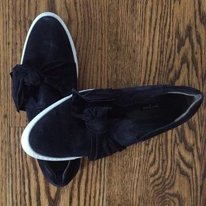 Paul Green Shoes - Paul Green Black Velvet Bow Flats
